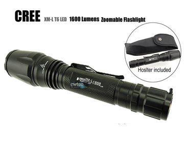 KEYGOS Z16 1600 Lumens CREE XML XM-L T6 LED Zoomable Flashlight Torch